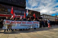 Протест Испания -го март - Виго, Стоковые Фото
