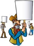 протест ковбоя Иллюстрация штока