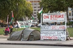 протест концентрации лагеря Стоковое Изображение