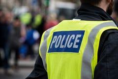 Протест март - Лондон сопроводителя полиции стоковая фотография rf