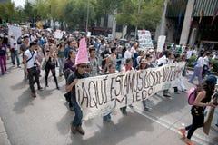 протест Мексики избрания города Стоковая Фотография