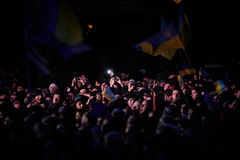 Протест на Euromaydan в Львове Стоковое Фото
