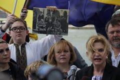 Протест против нашествия Крыма Стоковые Фото