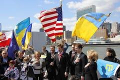 Протест против нашествия Крыма Стоковое фото RF