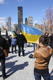 Протест против нашествия Крыма Стоковая Фотография RF