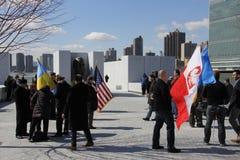 Протест против нашествия Crimeas Стоковое фото RF