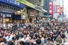 Протест продемократии в Гонконге 2014 Стоковое фото RF
