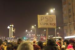 Протест румын в квадрате Виктории стоковые фотографии rf