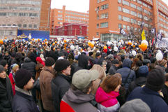 Протест 2011 24-ое декабря moscow Стоковые Изображения RF