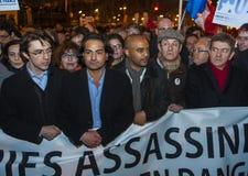 протест luc m lanchon демикотона еврейский стоковые изображения rf