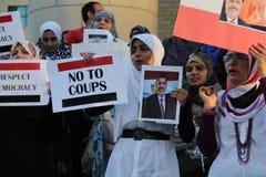 Протест Mississauga b Египта стоковые фотографии rf