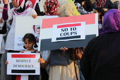 Протест Mississauga g Египта стоковое изображение