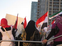 Протест Mississauga h Египта стоковая фотография