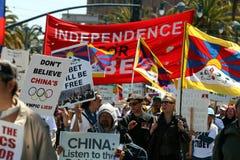 протест san francisco олимпийский стоковое фото