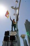 протест san francisco олимпийский стоковое изображение rf