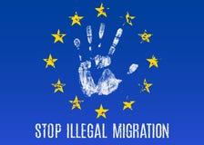 Противозаконная миграция иллюстрация штока
