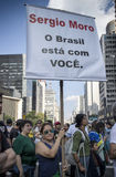 Противокоррупционный протест Бразилия Стоковые Фотографии RF