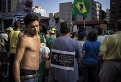 Противокоррупционный протест Бразилия Стоковое Фото