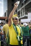 Противокоррупционный протест Бразилия Стоковые Изображения