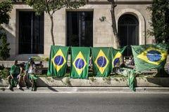 Противокоррупционный протест в Сан-Паулу, Бразилии Стоковые Фотографии RF
