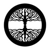 Противоположная сторона человека в человеческом символе дерева концепции Стоковые Изображения