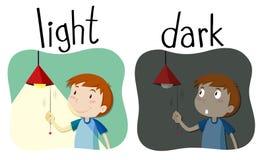 Противоположные свет и темнота прилагательных бесплатная иллюстрация