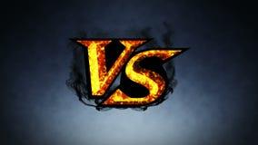 Против анимации боя ПРОТИВ на огня искры o Спорт сражают Анимация петли CG иллюстрация вектора