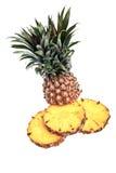 против белизны ананаса предпосылки Стоковая Фотография