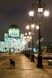 против виска улицы спасителя фонариков christ стоковые фото