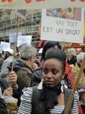 против вытеснений демонстрации, котор принудили снабжение жилищем Стоковое Изображение RF