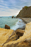 против гор пляжа пустых Стоковые Фотографии RF