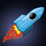 против голубого конца 4 дна nozzle космос неба ракеты к Стоковые Изображения