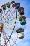 против голубого колеса неба ferris Стоковое Фото