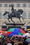 против демонстрации silvio berlusconi Стоковая Фотография