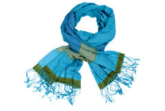 против изолированной зимы шарфа Стоковые Изображения