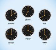 против карты london часов серой новые 3 приурочивают зоны york мира токио Стоковое Фото