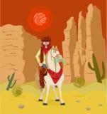 против ковбоя silhouetted зиги Монтаны horseback Стоковая Фотография RF