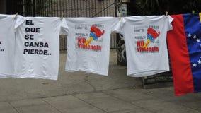 Протест для свободы в Венесуэле Против коммунизма, против социализма стоковое изображение
