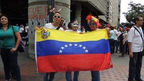 Протест для свободы в Венесуэле Против коммунизма, против социализма стоковая фотография rf