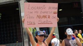 Протест для свободы в Венесуэле Против коммунизма, против социализма стоковые изображения