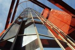 против неба офиса голубого здания самомоднейшего Стоковая Фотография