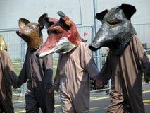 против охотников демонстрации Стоковые Изображения