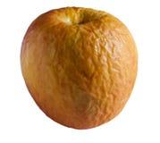 против предпосылки яблока изолированный белый желтый цвет Стоковые Изображения RF
