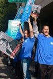 против протеста пикетчика оракула решения Стоковые Фотографии RF