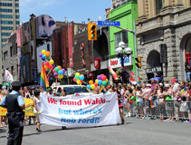 против протестующего toronto гордости парада мэра Стоковая Фотография RF