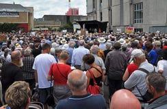 против протестующих муниципалитета christchurch Стоковые Фото