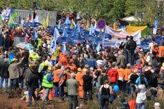 против противообщественных реформ prague демонстрации Стоковые Фото