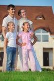 против сек дома травы семьи 4 стоковое фото
