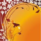 против солнца бабочек жизнерадостного стилизованного Стоковые Изображения