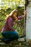 против стены девушки emo Стоковая Фотография RF